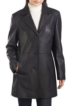 """Product review for BGSD Women's """"Danielle"""" Lambskin Leather Walking Coat (Regular Plus & Short).  - A timeless design in soft New Zealand lambskin that only improves with age. A clean, A-line silhouette flatters most any figure.       Famous Words of Inspiration...""""Arguing with a fool proves there are two.""""   Doris M. Smith — Click here..."""