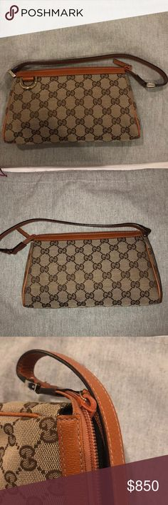 vintage Gucci purse Vintage Gucci purse that looks brand new!! I️t is the controllato style in the signature Gucci canvas pattern! Gucci Bags Mini Bags