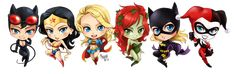 chibi dc girls by meago.deviantart.com on @deviantART