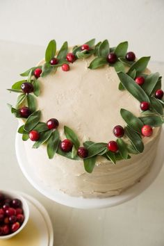 APPLE CRANBERRY CAKE WITH BROWN SUGAR BUTTERCREAM