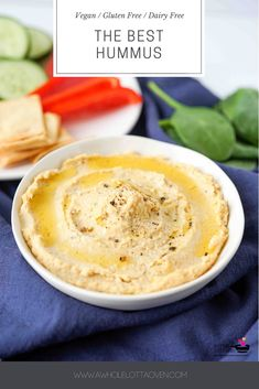 The BEST hummus recipe! It is creamy & smooth, and tastes so fresh & full of flavor! Oh, and it takes minutes to make! Serve this up with fresh veggies! Veggie Roll Ups, Best Hummus Recipe, Oven Recipes, Sweets Recipes, Garlic Hummus, Protein Packed Snacks, Homemade Hummus, Canned Chickpeas, Fresh Lemon Juice