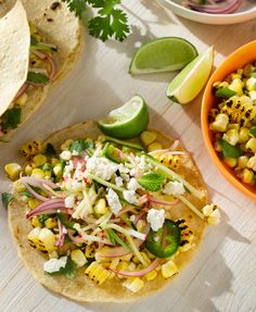 Charred Corn Tacos with Radish-Zucchini Slaw #sweetsurprisesweeps