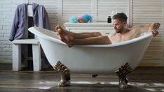 Resultado de imagem para man relaxing in bathtub