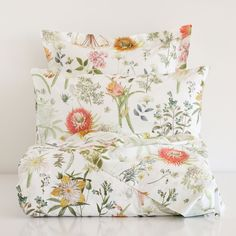 WILDFLOWERS BED LINEN, pair with black and white stripes