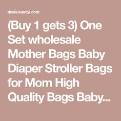 (Buy 1 gets 3) One Set wholesale Mother Bags Baby Diaper Stroller Bags for Mom High Quality Bags Baby Free Shipping