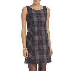 Tartan shift dress. Love the sides cut on the bias