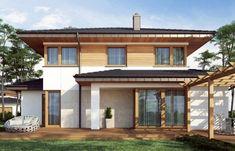 Proiect de casa eleganta cu etaj House Elevation, Design Case, White Wood, Home Fashion, House Plans, Istanbul, Exterior, House Design, How To Plan