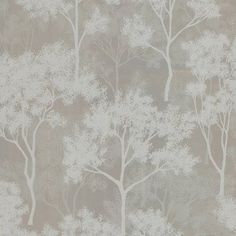 Kenneth James Fauna Trees Wallpaper Taupe - 58-54455