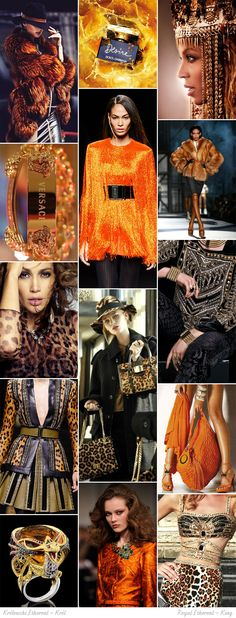 Royal Ethereal moodboard. One of 18 beauty types created by GretaKredka. Maximalism, splendor, gold and rich jewelry. KING: hats, furs, heavy shoes, baroque patterns, leopard print.
