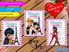 Excited to share the latest addition to my #etsy shop: 10 Miraculous Ladybug Valentines Day Cards, INSTANT DOWNLOAD, Miraculous Exchange Valentines Cards, Kids Classroom Valentine, Cat Noir http://etsy.me/2CGaHjD #papergoods #pink #backtoschool #purple #valentinesday #