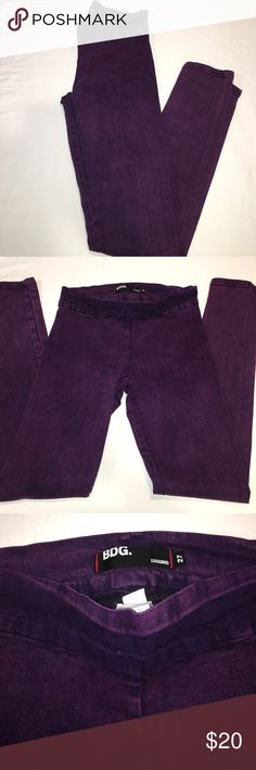 Urban Outfitters BDG purple acid denim leggings Great preowned condition, no rips or stains. Urban Outfitters Jeans Skinny