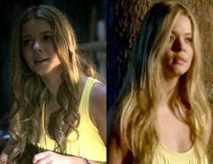 Ali wears a necklace in one scene from the night she disappeared but not in the other, hair is straight in one scene and curly in the other. -maybe it's Courtney?