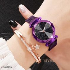 Checkout this latest Watches Product Name: *Attractive Women Metal  Watches* Strap Material: Metal Display Type: Analogue Size: Free Size (Dial Diameter Size: 38 mm)  Multipack: 1 Easy Returns Available In Case Of Any Issue   Catalog Rating: ★4 (392)  Catalog Name: Attractive Women Metal Watches CatalogID_922537 C72-SC1087 Code: 422-6071205-054