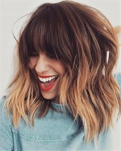 Mechas californianas: passo a passo, cuidados e pictures para te inspirar Related posts: medium-layered-hairstyle-designs-women-shoulder-length-hair-cuts-for-thick-hair -… Hair autumn Easy updos for medium hair updos … short hairstyles 2019 for women # Medium Length Hairstyles, Long Fringe Hairstyles, Medium Shag Haircuts, Short Haircuts, Inverted Hairstyles, Layered Haircuts, Straight Hairstyles, Brown Ombre Hair, Ombre Hair Color