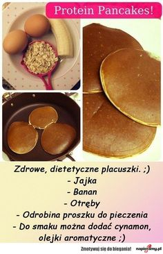 """renniesane: """" From Muffintop-Less Simple Protein Pancakes 1 Scoop Whey (flavor of choice) 2 Egg Whites ¼ Cup Oats ½ Large Banana 1 TB Unsweetened Vanilla Almond Milk teaspoon of Baking Powder ½. Healthy Protein Pancakes, Healthy Snacks, Healthy Eating, Whey Protein, Health Pancakes, Healthy Recipes, Vegan Protein, Protein Shakes, Low Carb"""