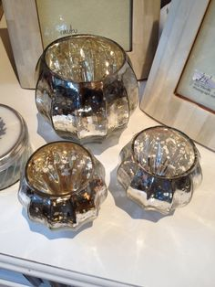 silver tea lights for table decoration
