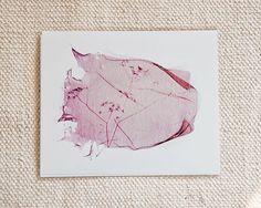 Pretty Pinks Polaroid Emulsion Lift Print 7 x 5 by RibbonSquirrel, £8.00