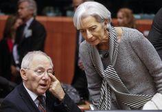Bundesfinanzminister Wolfgang Schäuble mit IWF-Chefin Christine Lagarde. (Foto: dpa)