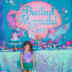 Mermaid party to celebrate this little one turning 4 #presleys4thbirthday