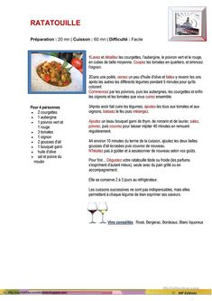 RATATOUILLE Food In French, Ratatouille Recipe, French Classroom, Languages, Provence, Images, Truck, Restaurant, Animation