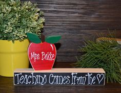 Personalized Teacher Appreciation Gift Name Plate by BlocksOfLove1, $8.99