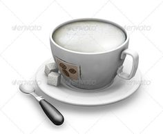 3D render of a cup of coffee