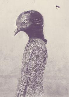Anthropomorphic Bird Portrait