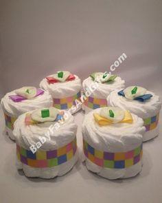 Mini Flower Diaper Cake