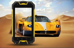4.5 Inch Rugged Smartphone 'Apex' - 3G, IP68 Waterproof + Dust Proof Rating, Shockproof, GPS, Dual Core CPU (Yellow)