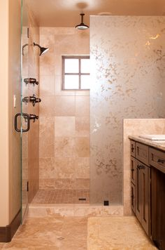 Beatiful shower, love the textured/frosted glass. It creates a sense of a little more privacy. Ours would be like this with open door on shower head side Downstairs Bathroom, Bathroom Renos, Small Bathroom, Bathroom Ideas, Master Bathrooms, Bath Ideas, Frameless Shower Doors, Glass Shower Doors, Shower Makeover