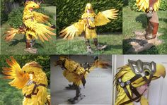 Final Fantasy XIV Chocobo Cosplay by calleymacleod on deviantART