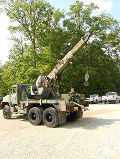 1985 M936 6x6 wrecker crane truck great shape 45,000lbs winch 20,000lbs lift Army Vehicles, Armored Vehicles, 6x6 Truck, Tonka Toys, Dodge Power Wagon, Heavy Duty Trucks, Expedition Vehicle, Old Trucks, Heavy Equipment