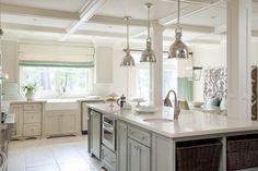 open kitchen with windows