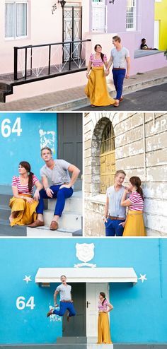 Couple shoot photos in Bo-Kaap Cape Town always makes for colorful photos!