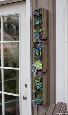 DIY vertical felt succulent garden by MichaelsMakers Lia Griffith.