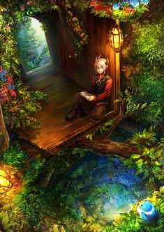 Pixiv Fantasia NW Levon's Home by LuluSeason This is my character Levon: [link]  This was the idea for his home area in the forests. though things were tricky to draw out how i imagined them haha. Pasted from <http://luluseason.deviantart.com/art/Pixiv-Fantasia-NW-Levon-s-Home-359130595>