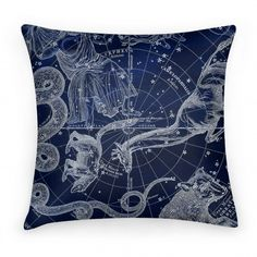 Constellation Blue and White Pillow | HUMAN | T-Shirts, Tanks, Sweatshirts and Hoodies