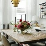 Restoration Hardware Flat Iron Table because it's both beautiful and functional with it's heavy duty unfinished top.  Knoll Saarinen Executive Chairs from Two Jakes, a vintage furniture store we reupholstered. Shop Talk: Firefly Events   theglitterguide.com