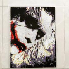 Joker (Heath Ledger) - Batman hama perler bead art by majorasmanu