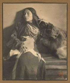 Zitkala-Sa, 1898 by Gertrude Käsebier (1852-1934) :: She was a beautiful Yankton Sioux woman of Native American & white mixed ancestry. She was well educated and went on to become an accomplished author, musician, composer and later went on to work for the reform of Indian policies in the United States.