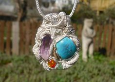 #Vera_Cruz #Amethyst  #Kingman #Turquoise  #Herkimer #Diamond #Quartz  #Mexican #Opal  #Madagascar #Demantoid #Garnet  #14k #Custom #Jon_Hixson #3rd_eye_visions #3rdeyevisions #wire #wrapped #wrap #crystal #jewelry #pendant #talisman #amulet #healing #reiki #occult #magic  #wearable_art #metaphysical #999 #fine #silver #925 #sterling #gold #one_of_a_kind #unique #artisan #handmade #handcrafted  #metalwork #heady #tribal #natural #gemstone #gem #cold_fusion