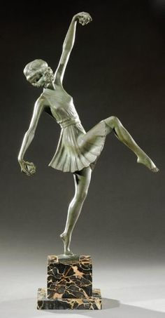 An Art Deco bronze by Pierre Laurel, France circa 1930.