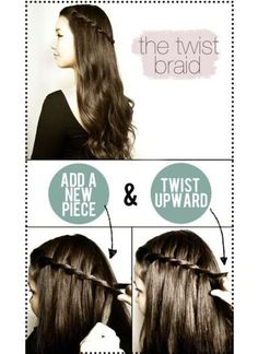 Pinterest Hairstyles: The Twist braid tutorial