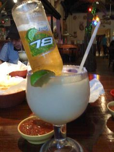 Bud- Rita~  Had these in Houston...mega margarita with an upside down bud light lime :)