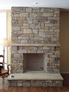 ***SLAB HEARTH STONE AND NICE MOUNTING FOR MANTEL***