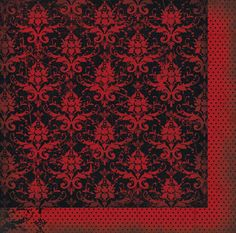Bo Bunny - Serenity Collection - 12 x 12 Double Sided Paper - Damask at Scrapbook.com $1.01