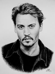 Johnny Depp by Andrew Read ~ graphite wash