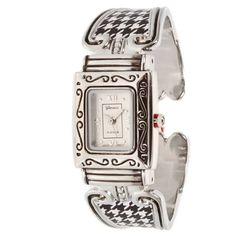 Alabama Crimson Tide Inspired Collegiate Fashion Watch Featuring Silver Tone Finish and Houndstooth Pattern Geneva http://www.amazon.com/dp/B00I2DFKL6/ref=cm_sw_r_pi_dp_yyK4tb14N3VSH
