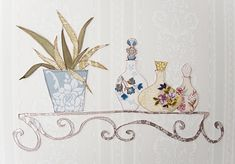 Cut out pieces of wallpaper and apply them as detail embellishments to your already painted or papered wall
