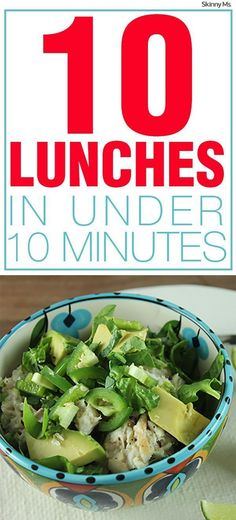 10 Lunches in Under 10 Minutes!